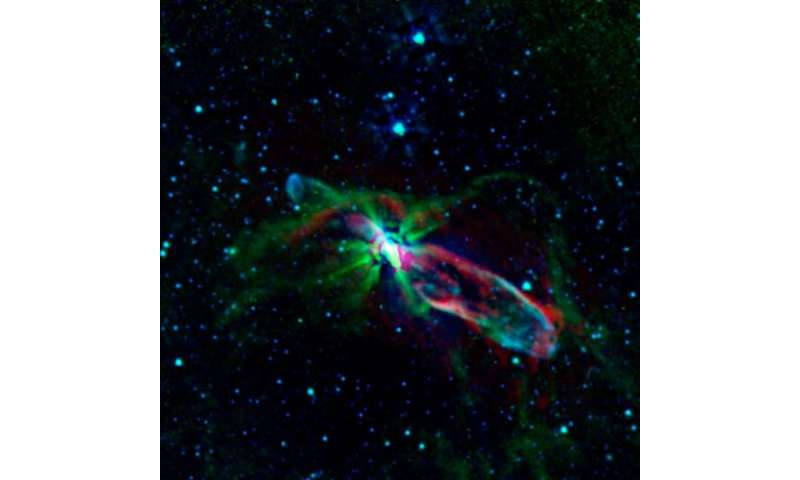 Spitzer and ALMA reveal a star's bubbly birth