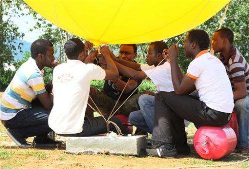 Students in Ghana launch mini-satellite