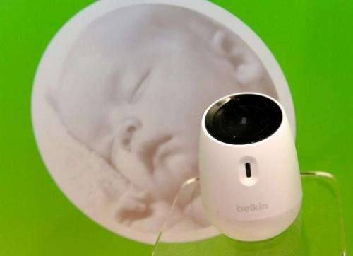 The Belkin WeMo Baby displayed at the Consumer Electronics Show in Las Vegas on January 9, 2013