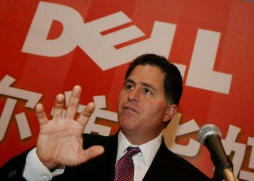 The Chief Executive of Dell computers, Michael Dell, speaks at a press conference in Shanghai on March 21, 2007