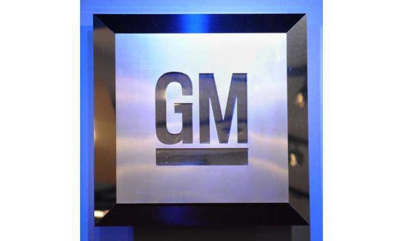 The General Motors logo is seen at the North American International Auto Show in this January 12, 2009 file photo in Detroit, Mi