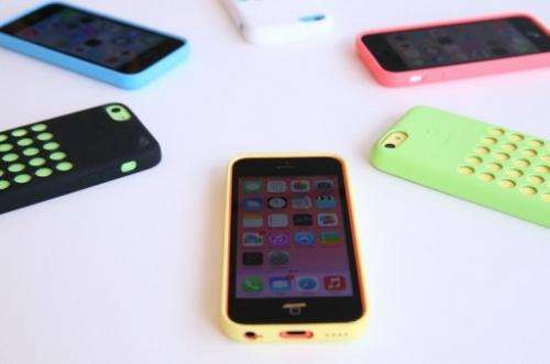The iPhone 5C is displayed at the Apple campus on September 10, 2013 in Cupertino, California