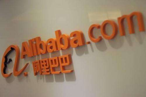 The logo of online shopping portal Alibaba.com pictured outside its office in Hong Kong, February 22, 2012