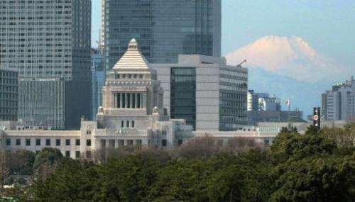 The National Diet Building (left), pictured in Tokyo on February 26, 2013