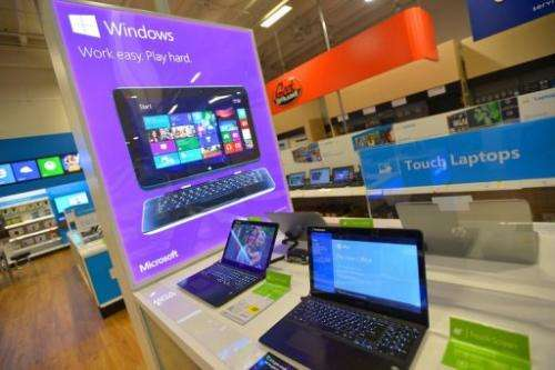 The new Windows Store Only at Best Buy on August 7, 2013 in Los Angeles, California