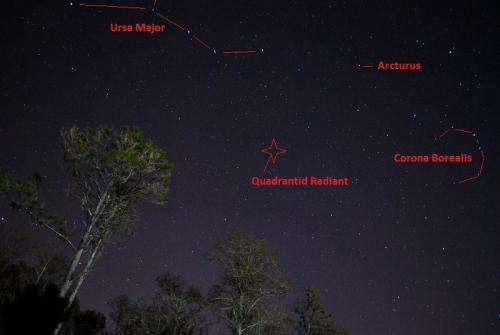 The Quadrantid meteor shower