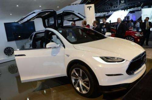 The Tesla Model X is introduced at the 2013 North American International Auto Show, January 15, 2013