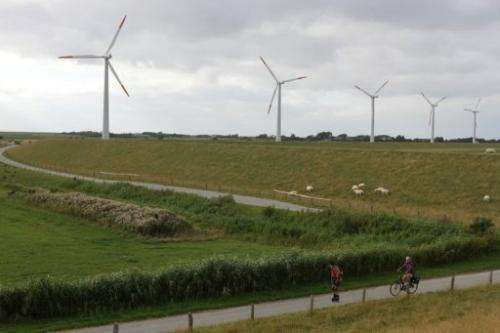 The windpark on the German island of Pellworm is owned by 40 local families and can power 400 households
