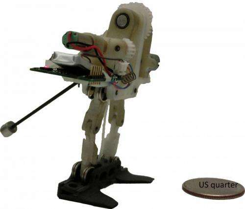 Tiny robot able to reorient itself during jumps using actuated tail (w/ Video)