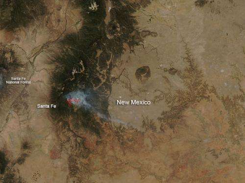 Tres Lagunas Fire, New Mexico