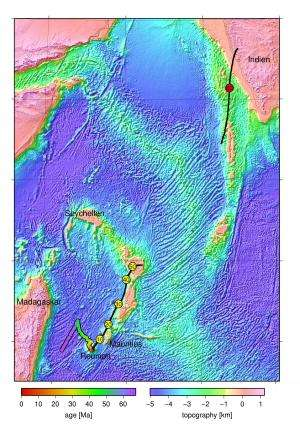 Fragments of continents hidden under lava in the Indian Ocean