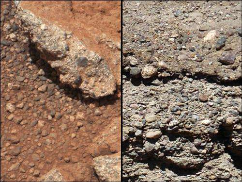 Ancient streambed found on surface of Mars
