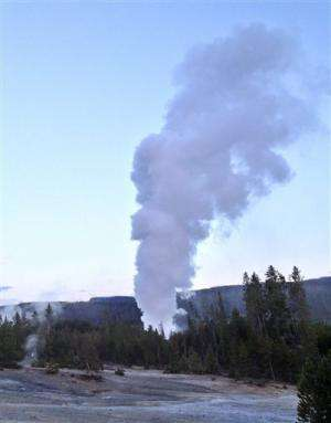 Yellowstone's Steamboat geyser sees rare eruption