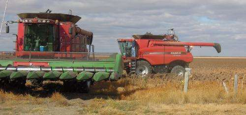 Agricultural engineers develop system to prevent combine fires