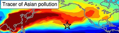 Asian ozone pollution in Hawaii is tied to climate variability