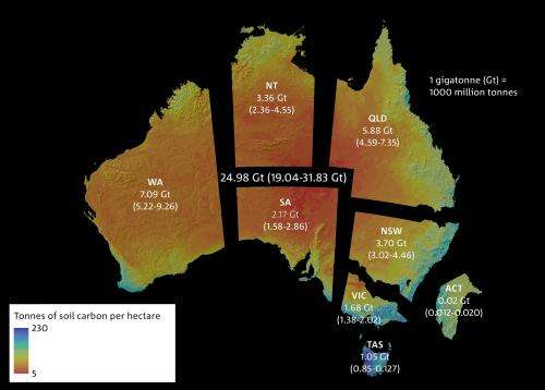 Australian soil carbon map sets a baseline for future gains