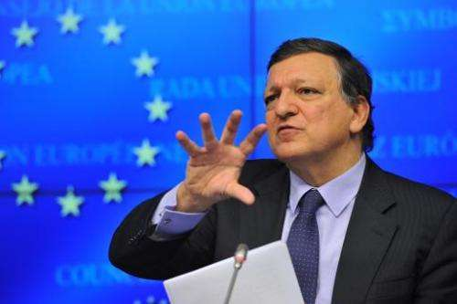 European Commission President Jose Manuel Barroso at an EU summit on October 24, 2013 focusing on prospects for growth from the