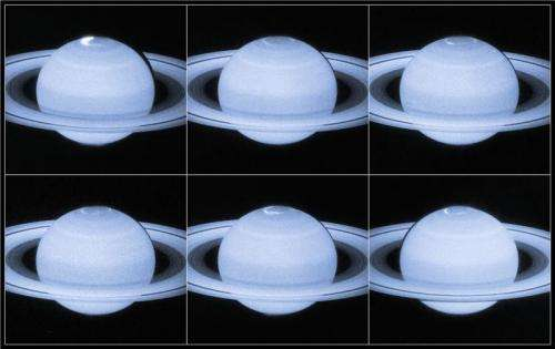 Evidence that Saturn's collapsing magnetic tail causes auroras