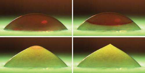 Explaining the shape of freezing droplets