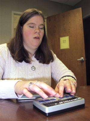 High-tech items giving deaf-blind online access