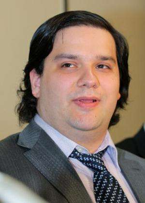 Mark Karpeles, president of MtGox bitcoin exchange speaks during a press conference in Tokyo on February 28, 2014
