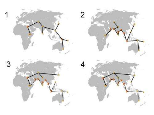 Modern humans left the home continent in at least two waves
