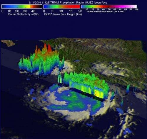 NASA and NOAA satellites analyze Category 4 Hurricane Cristina