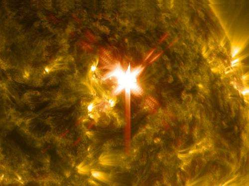 NASA releases images of X-class solar flare