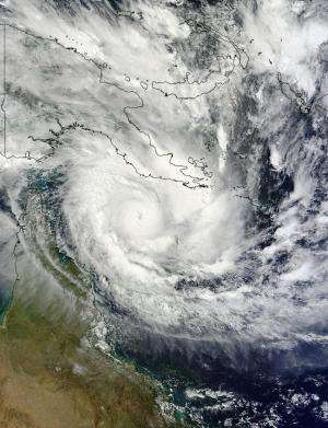 NASA sees hurricane-strength Tropical Cyclone Ita heading toward Queensland