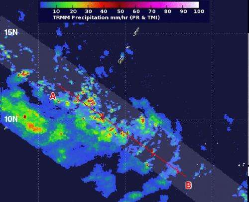 NASA sees rainfall in newborn Tropical Depression 8W