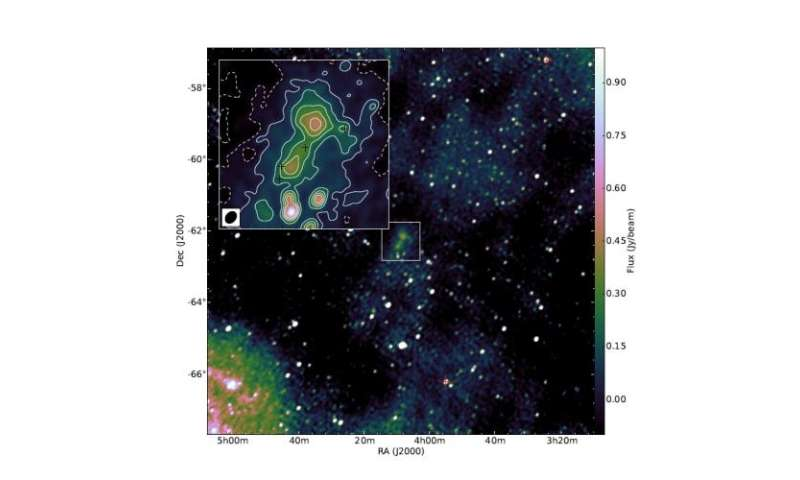 Radio galaxy discovery near Earth spurs more questions
