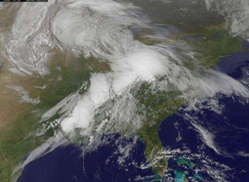 Satellite movie shows US tornado outbreak from space