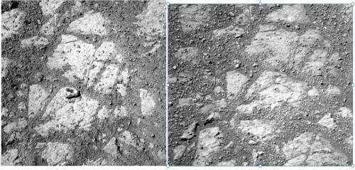 Some ideas on where the 'Jelly Donut' rock on Mars came from