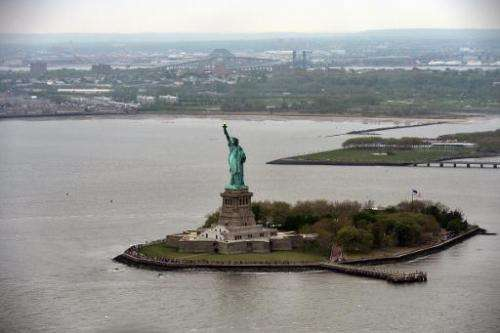 The Statue of Liberty is pictured in New York, on May 14, 2014