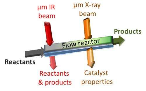 Tracking catalytic reactions in microreactors