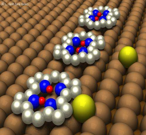 Two-proton bit controlled by a single copper atom