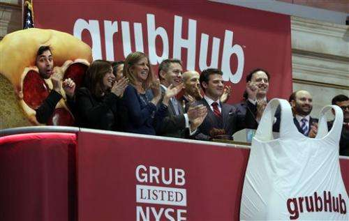 Wall Street orders up GrubHub in market debut