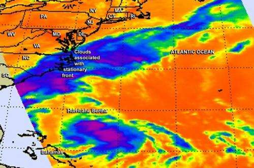 NASA's Aqua satellite puts two eyes on Hurricane Bertha
