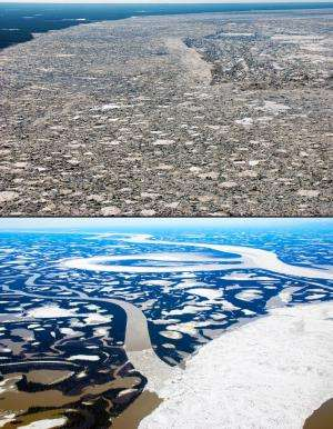 River ice reveals new twist on Arctic melt