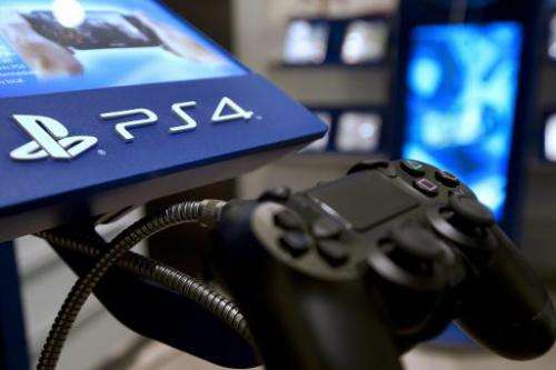A picture taken on November 29, 2013 in a Parisian store shows the joystick of the new Sony Playstation 4 video game console (PS