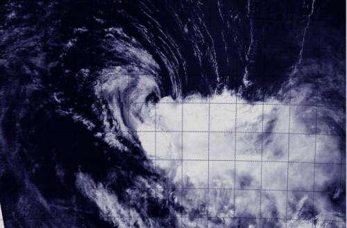 NASA satellite sees wind shear whipping Tropical Cyclone Gillian