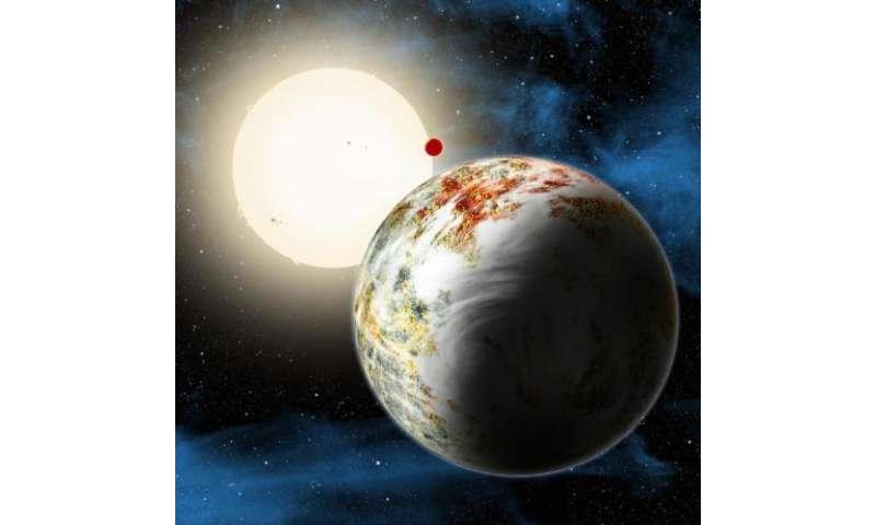 Artist's conception of Kepler-10c