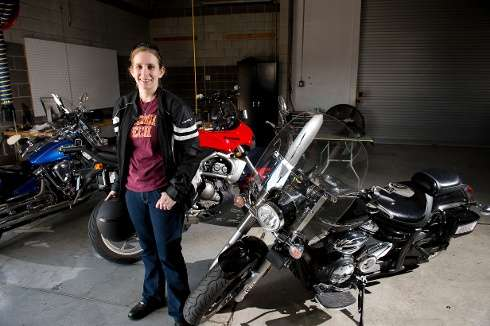 Graduate student exploring ways to make riding a motorcycle safer using connected driving data