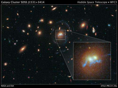 Merging galaxies and droplets of starbirth