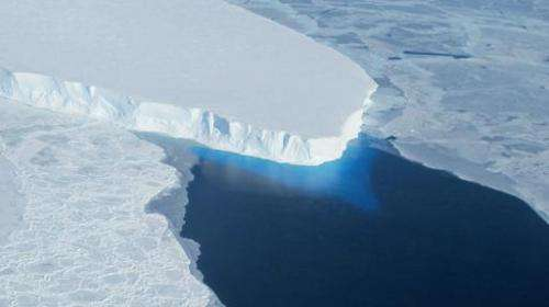 This undated photo courtesy of NASA shows Thwaites Glacier in Western Antarctica