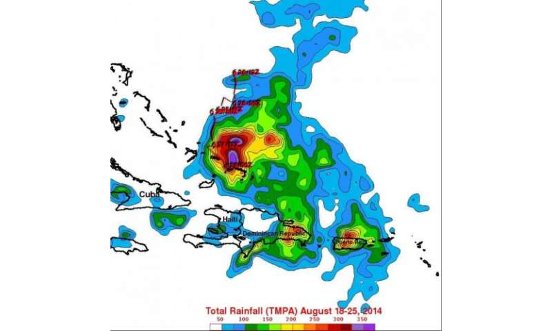 NASA's TRMM satellite adds up Cristobal's heavy rainfall in the Caribbean