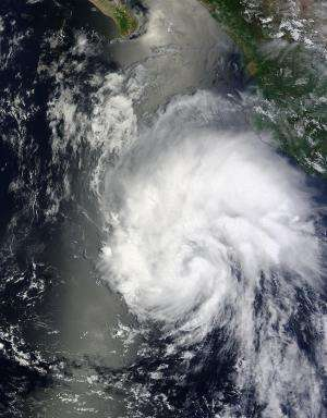 NASA sees Tropical Storm Hernan near Mexico's Baja California