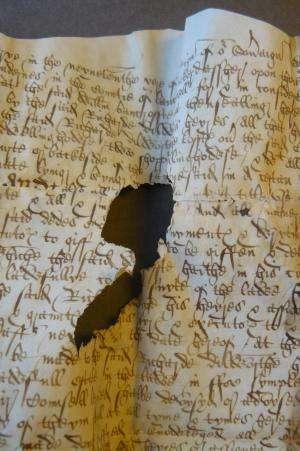 Scientists reveal parchment's hidden stories