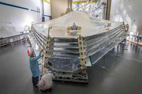 James Webb Space Telescope's giant sunshield test unit unfurled first time