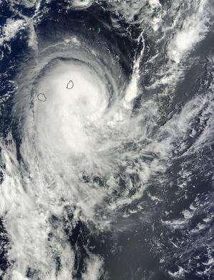 NASA sees Tropical Cyclone Edilson leaving Mauritius